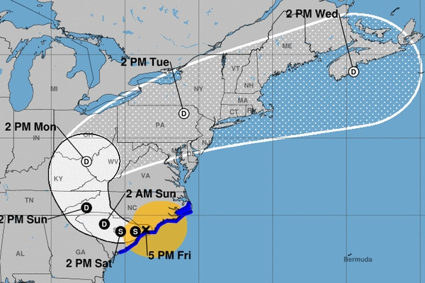 Philadelphia's weather is about to get nicer, and that's connected to Florence