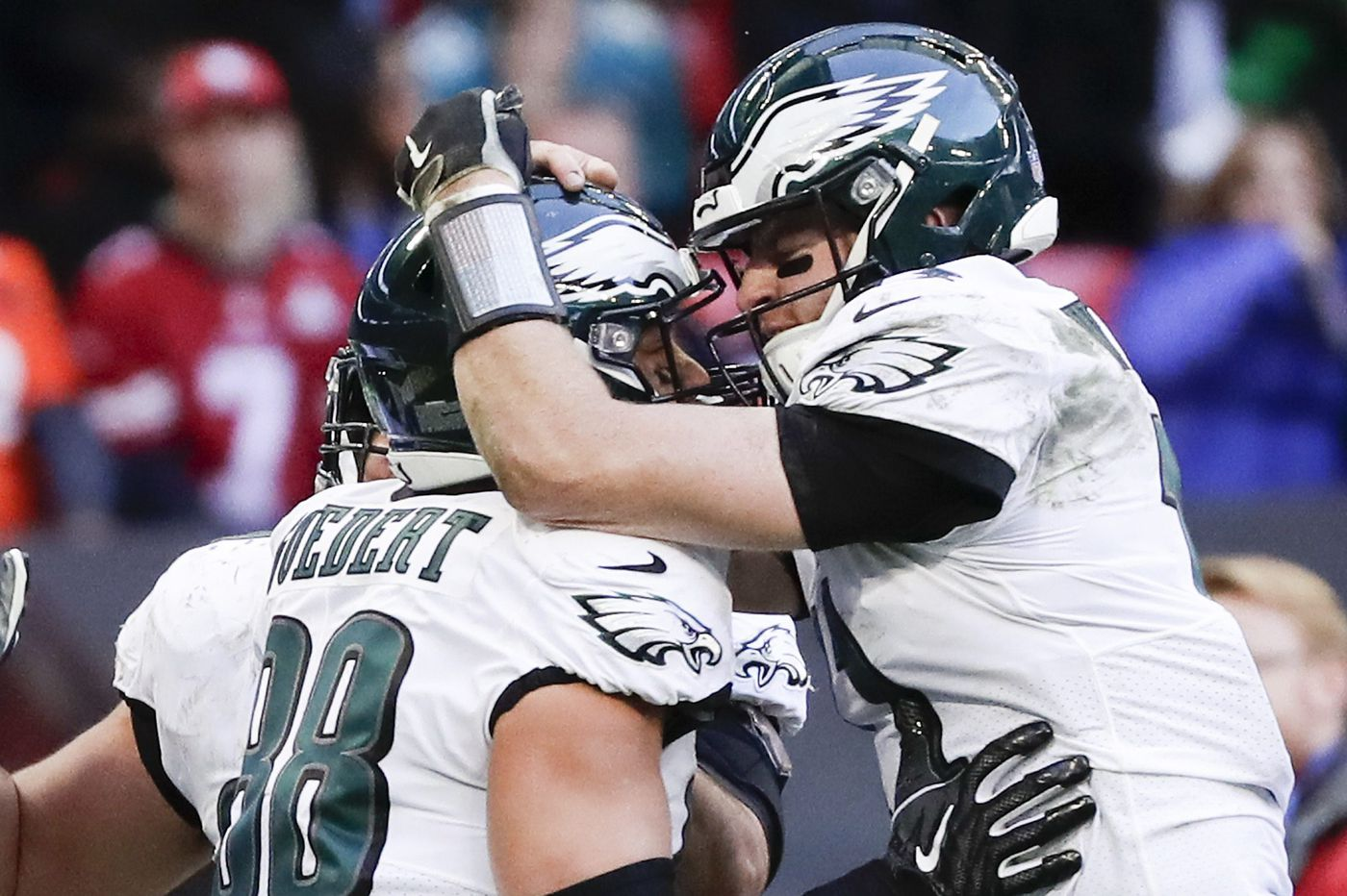 Eagles offensive line absorbs another blow with Lane Johnson injury but battles through to beat Jaguars
