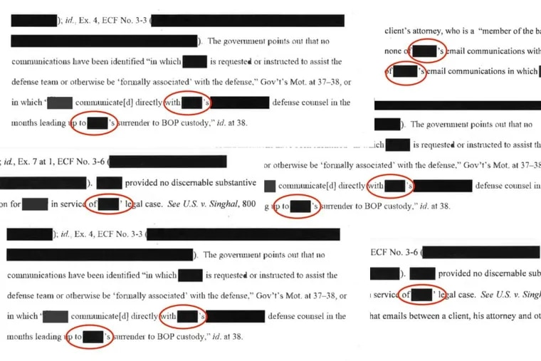Illustration based on screencaps of a heavily redacted memorandum about an investigation into possible bribery by a criminal who was seeking clemency from Donald Trump. The use of apostrophe led to speculation.