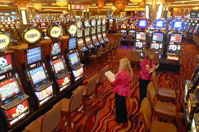 The slot machine section of Parx Casino in Bensalem. The Pennsylvania Gaming Control Board on Wednesday fined the casino $12,500 for allowing an underaged man to slip by security to play slots in September 2020.