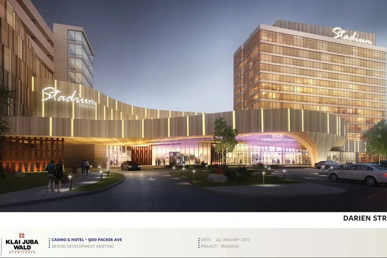 Newest rendering of Stadium Casino LLC's proposed Live! casino and hotel in South Philadelphia.