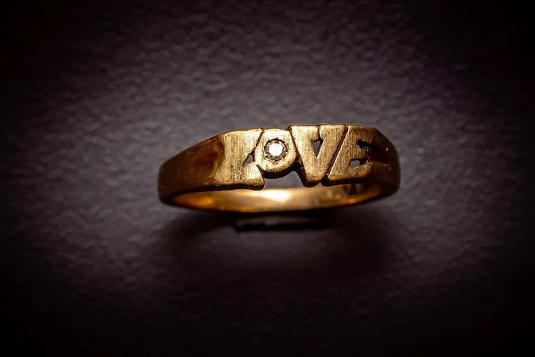 """""""LOVE"""" ring belonging to Shaun Eileen Ritterson, who was slain in Bucks County in 1977. Her case remains unsolved."""
