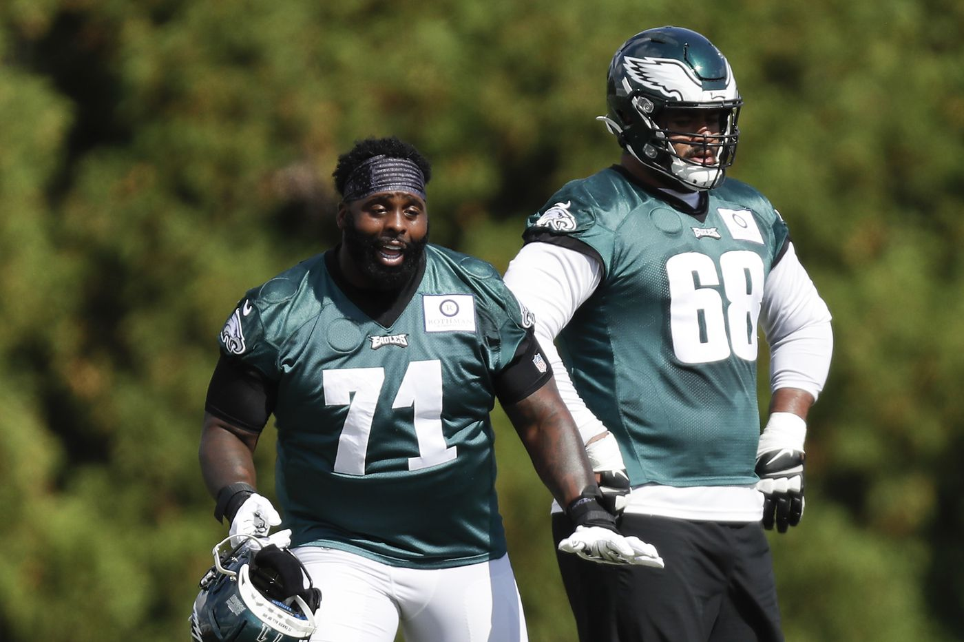 Eagles moving Jason Peters to right guard, putting Jordan Mailata at left tackle, per reports