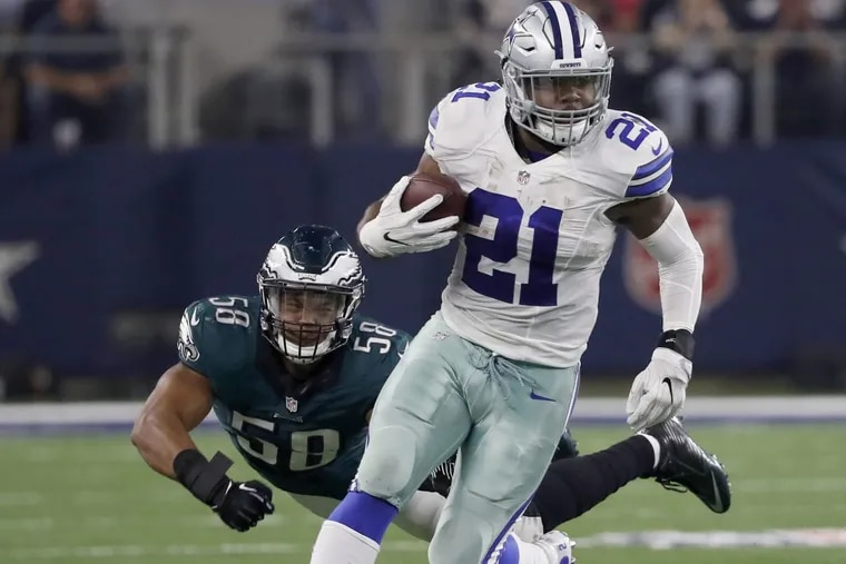 Bad news for Ezekiel Elliott and his fantasy owners on Thursday afternoon: his six-game suspension is back on again. DAVID MAIALETTI / Staff Photographer