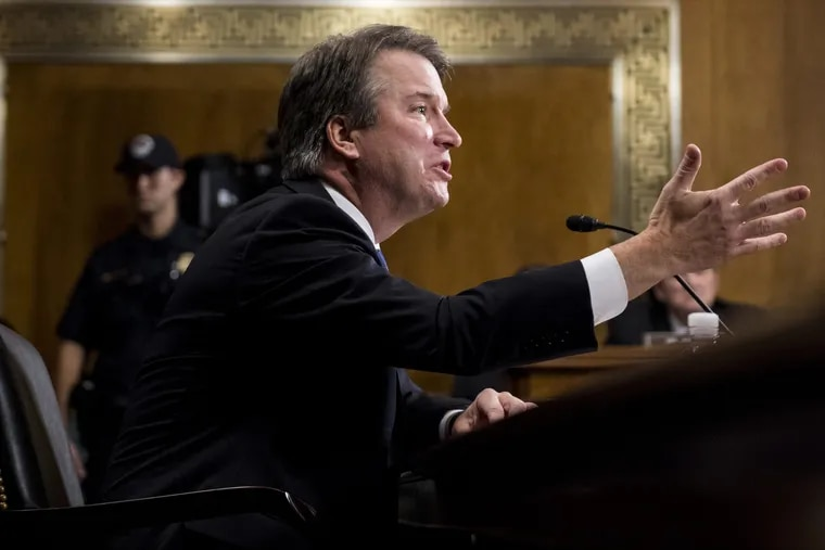 Supreme Court nominee Judge Brett Kavanaugh testifies during the Senate Judiciary Committee, Thursday, Sept. 27, 2018 on Capitol Hill in Washington.