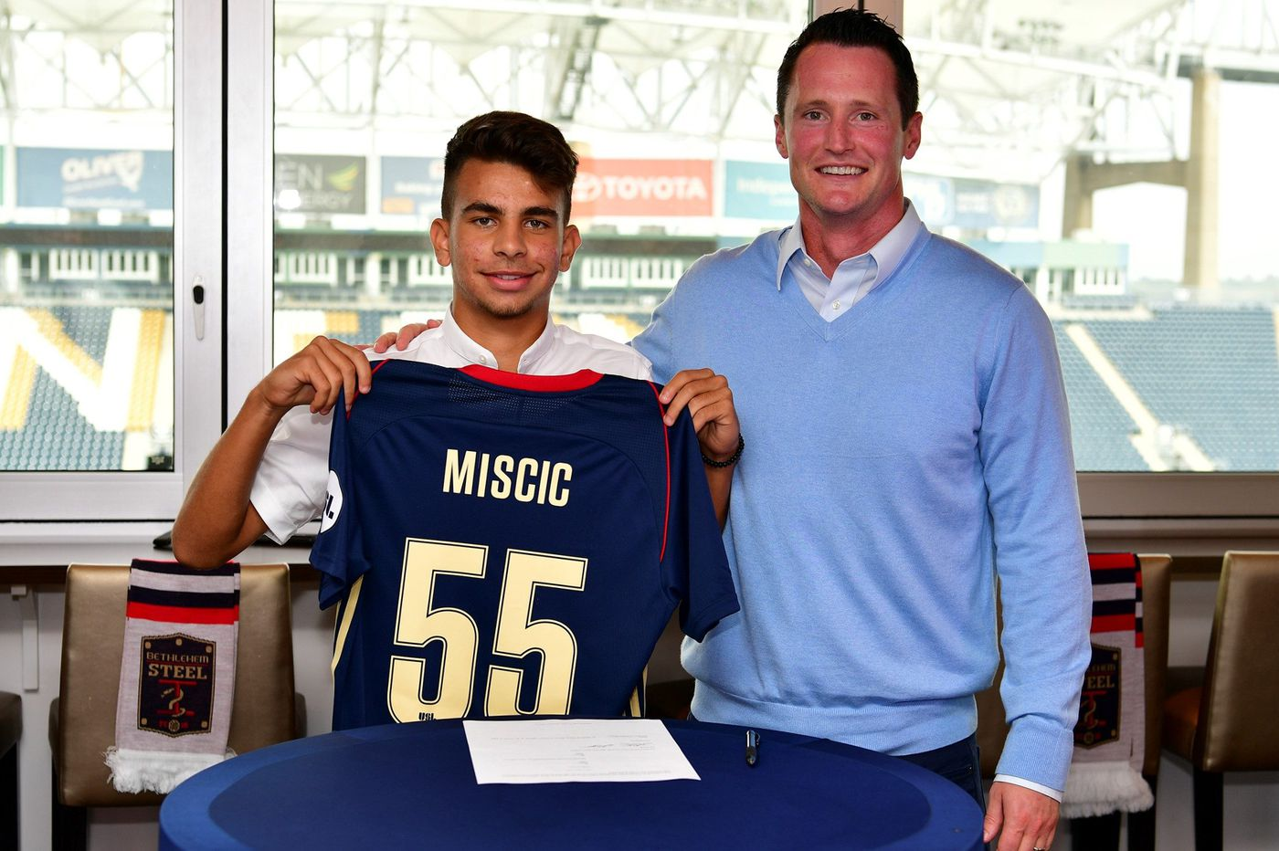 Union academy's Selmir Miscic signs with Bethlehem Steel; 15-year-old forward is Union's youngest-ever pro