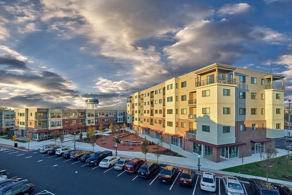Luxury apartments finished near Lansdale SEPTA station; stores and restaurants coming