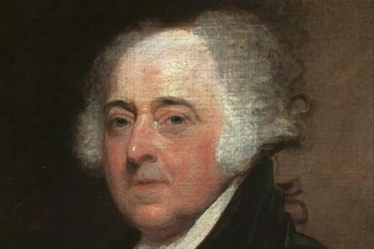 President John Adams, in a portrait by Gilbert Stuart.