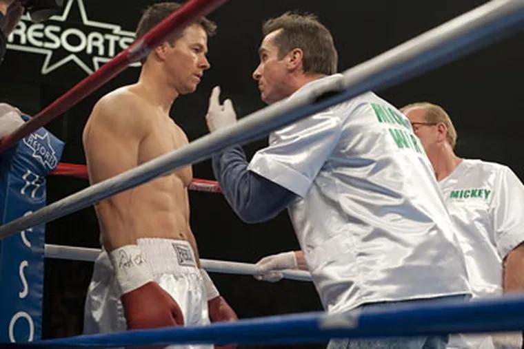 "Mark Wahlberg, left, as real-life champ ""Irish"" Micky Ward."