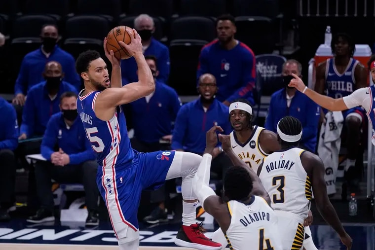 Ben Simmons says the Sixers' half-court offense will get better with time.