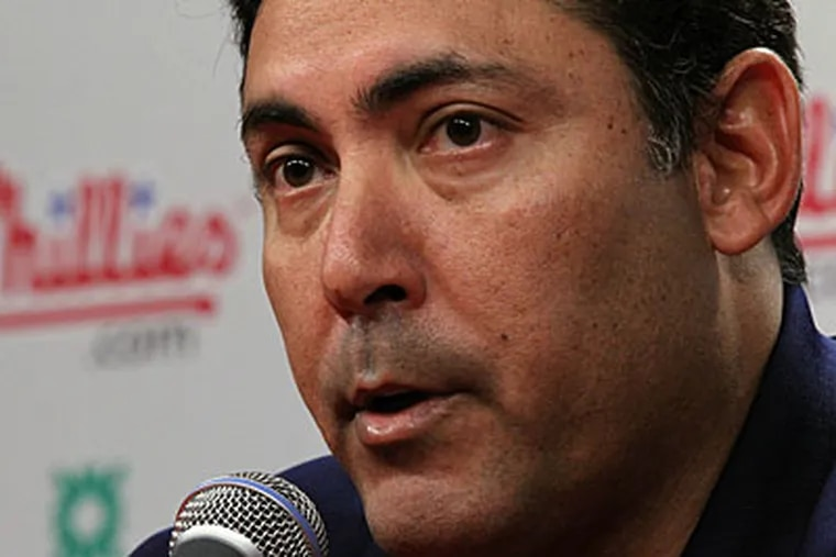 Ruben Amaro Jr. and the Phillies acknowledged their bullpen issues before Thursday's game. (Matt Rourke/AP file photo)