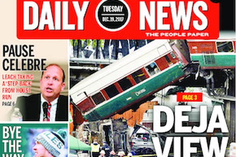 Daily News front page  12/19/17