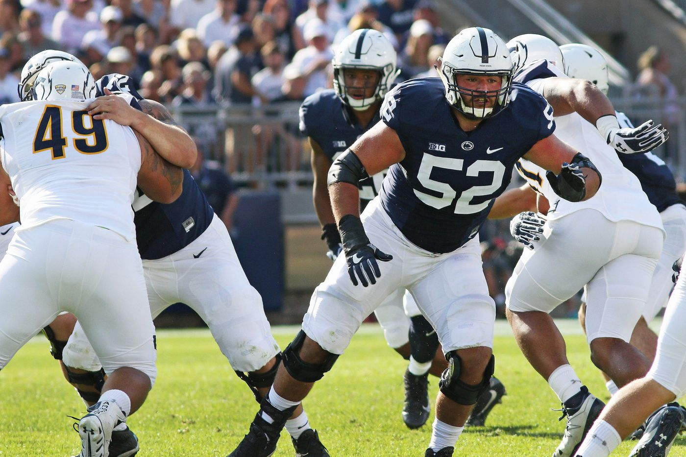 Penn State's once-maligned offensive line now a strength