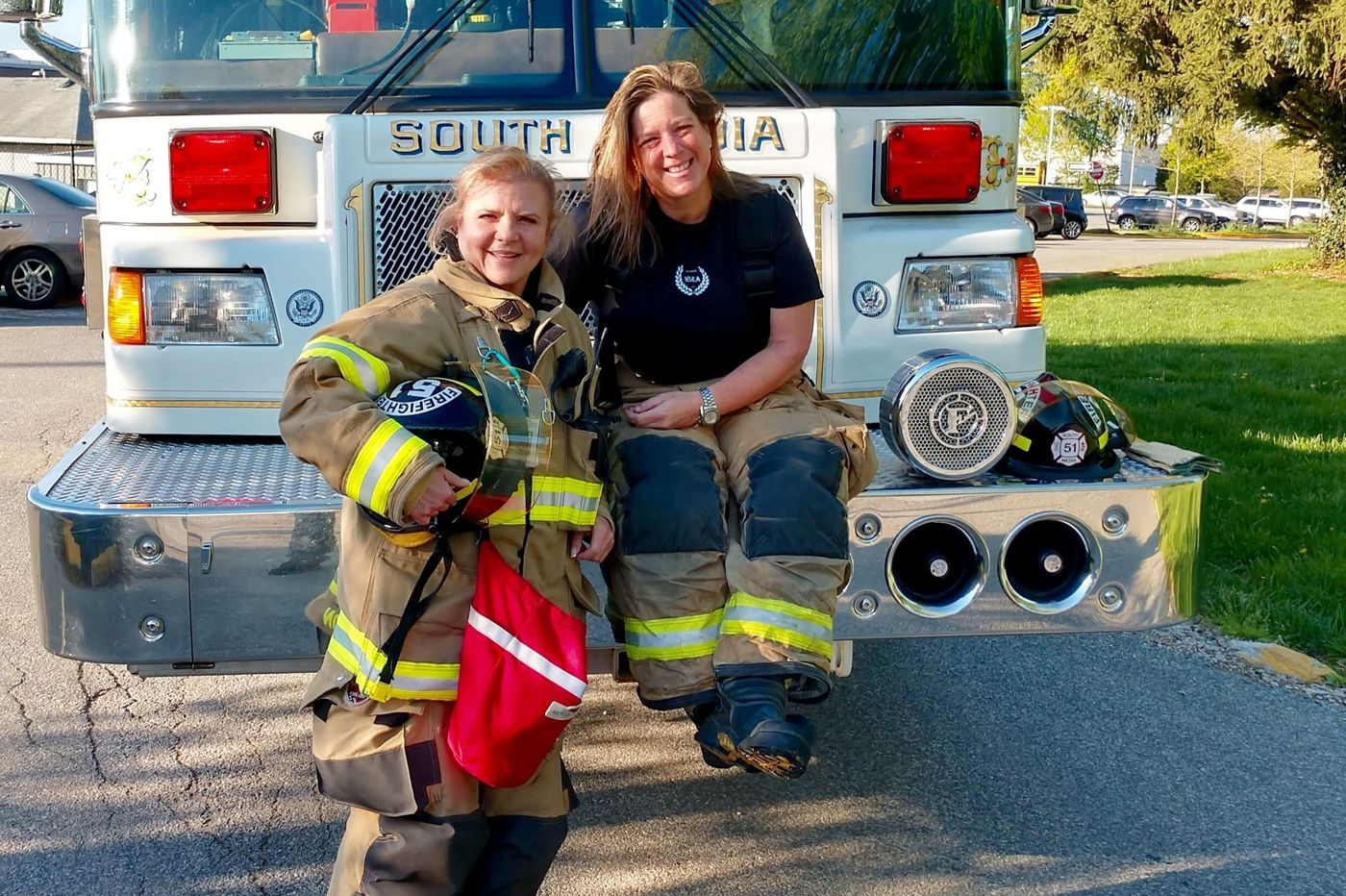 Delco women firefighters make history on a Pa. middle school emergency call | Maria Panaritis