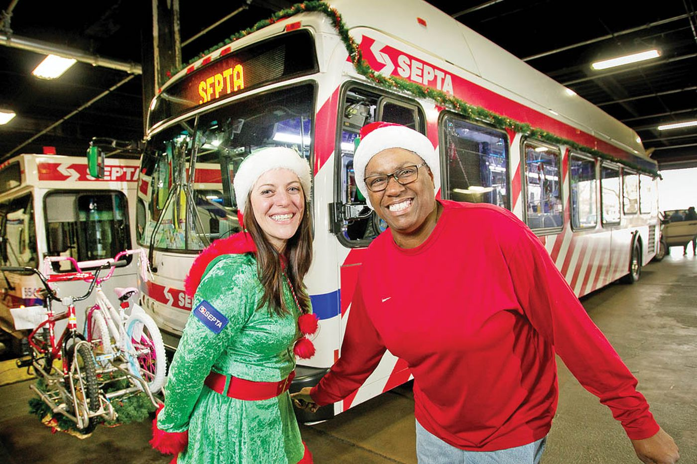 SEPTA 'elves' create holiday haven on wheels