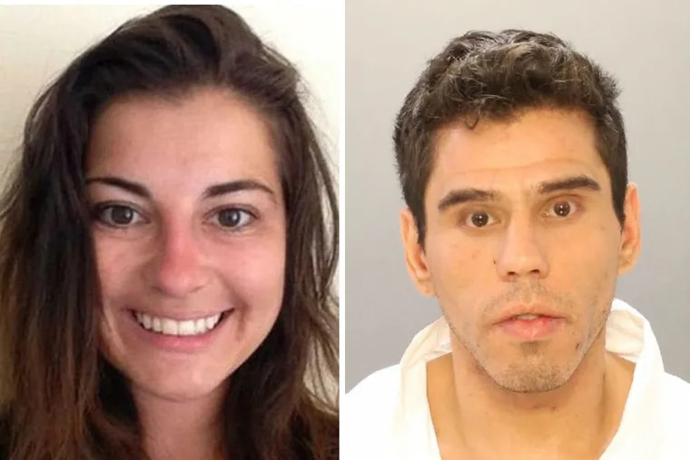 Joshua Hupperterz (right), 29, was arrested in connection with the killing of Jenna Burleigh (left), a 22-year-old student at Temple University.
