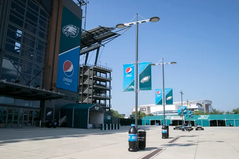 The Pepsi Plaza on the north side of Lincoln Financial Field.