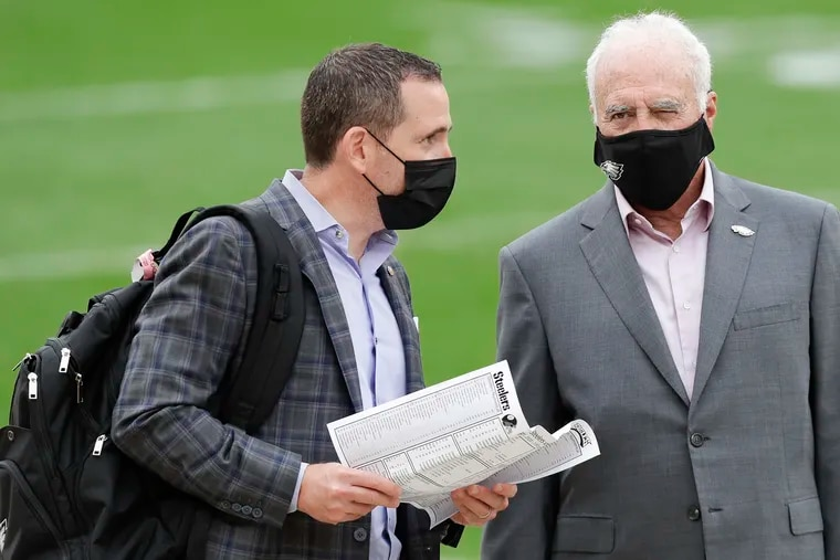 Eagles GM Howie Roseman has owner Jeffrey Lurie's confidence.