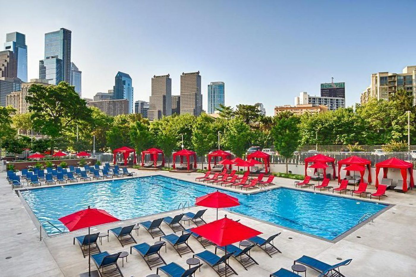 One-bedroom apartments in Philly with access to impressive pools