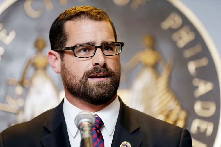 """MATT ROURKE / ASSOCIATED PRESS Philly Democratic Rep. Brian Sims is one of the state's lawmakers not enrolled to receive a pension through his work in the Legislature. """"That's not why I ran,"""" he said."""