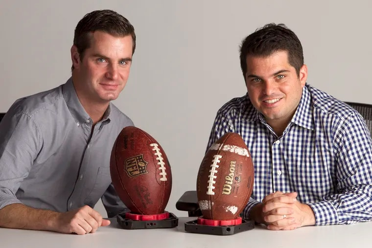 """Jeff McLane (left) and Zach Berman (right), hosts of the Philadelphia Inquirer and Daily News' """"Birds' Eye View"""" podcast."""