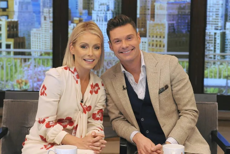"""Kelly Ripa and are pictured during the production of """"LIVE Kelly"""" in New York on Monday, May 1, 2017 Photo:"""
