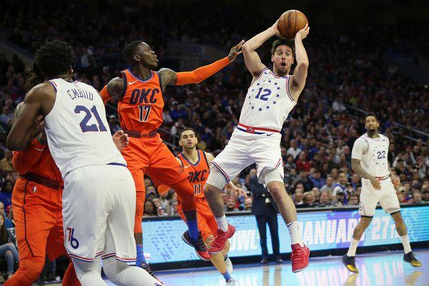Basketball: Thunder 117, Sixers 115