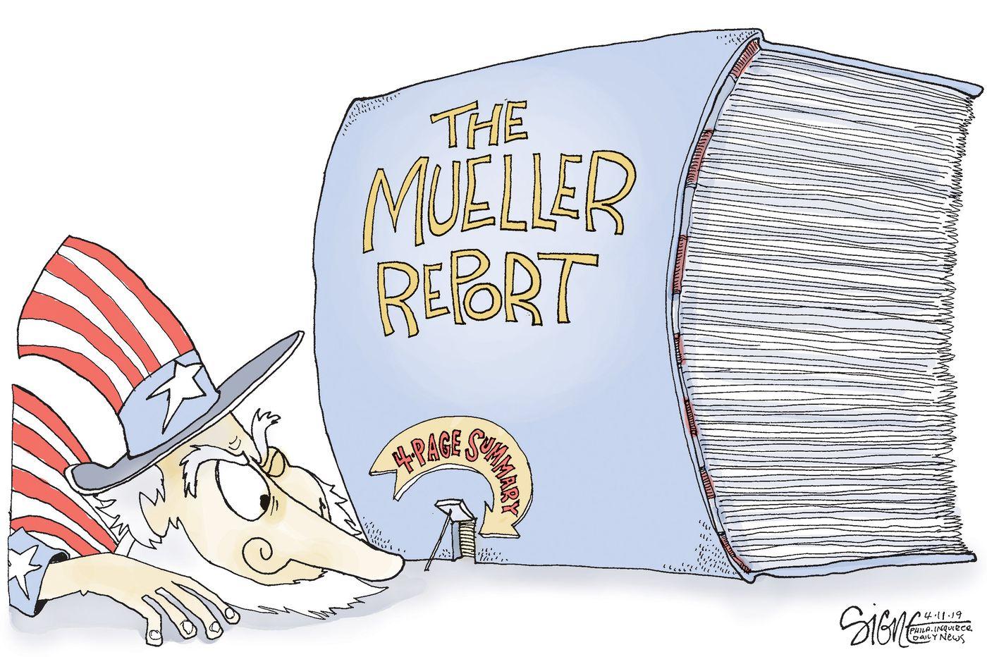 Political Cartoon: An opening to the Mueller Report