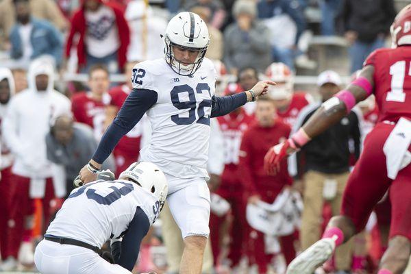 Penn State's freshman kicker Jake Pinegar, an Iowa native, contributes to defeat of Hawkeyes
