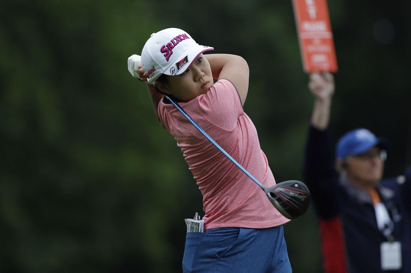 Nasa Hataoka takes the second-round lead in the ShopRite LPGA Classic at Seaview