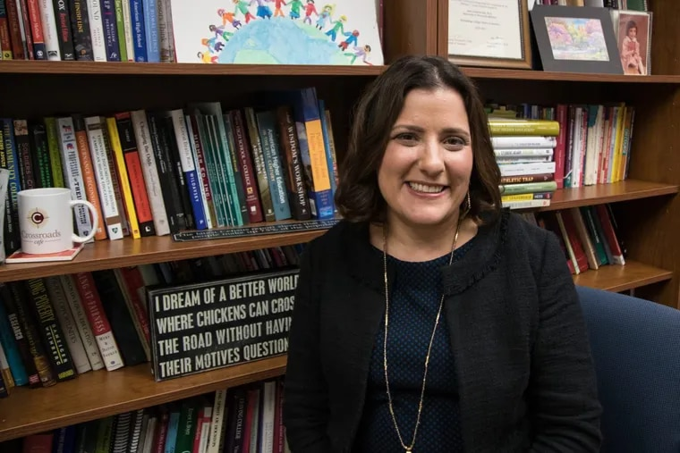 Temple University education policy professor Sara Goldrick-Rab in her office at Temple University.