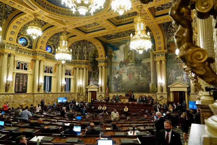 The Pennsylvania House of Representatives in Harrisburg.