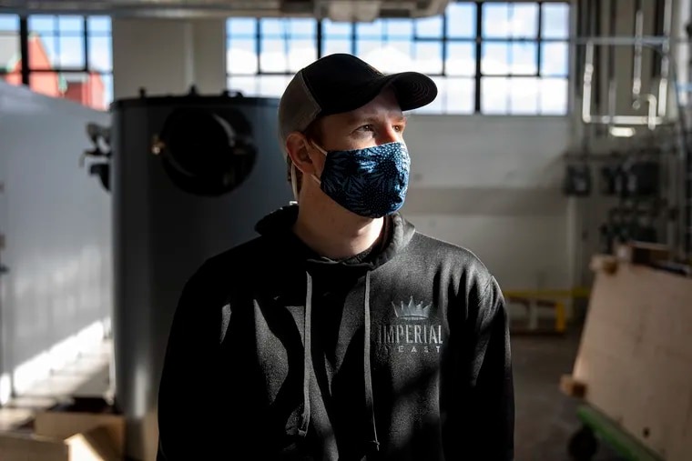 Andrew Halladay, owner of Imperial Yeast, inside his production facility. Halladay is in the process of opening up his second location in Philadelphia and hopes to have it up in running next year around February or March.