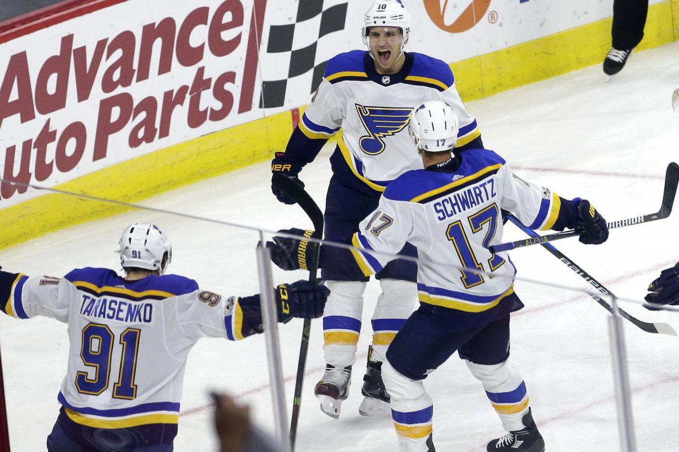 Jori Lehtera, Brayden Schenn will face old teams when Flyers play Blues