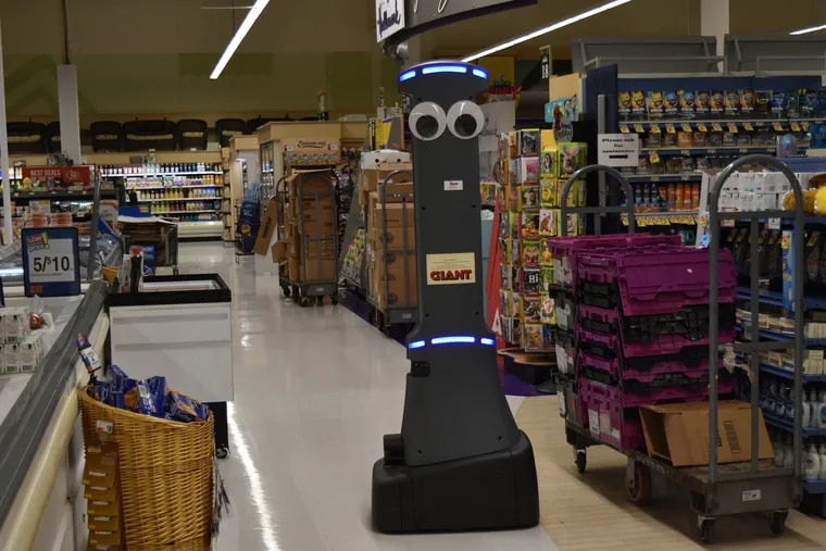 This gray, googly-eyed robot will be coming to all of Giant's 172 stores.