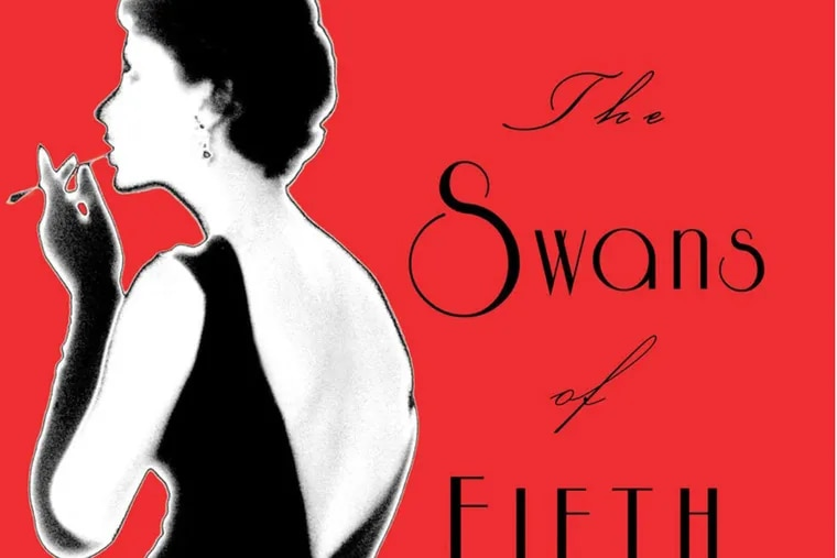 """Detail from the book jacket of """"The Swans of Fifth Avenue,"""" by Melanie Benjamin."""