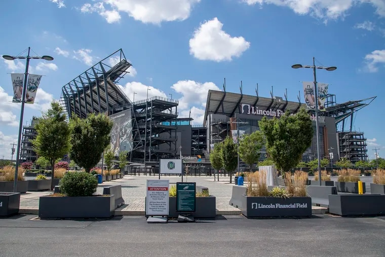 Lincoln Financial Field is shown in South Philadelphia, Pa. Wednesday, July 15, 2020. Philadelphia cancels big events through Feb. 2021 due to Coronavirus.