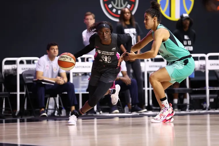 Philly native Kahleah Copper (left) has emerged as another all-star-level guard for the Chicago Sky.