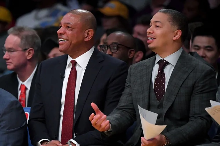 Ty Lue (left) sits with head coach Doc Rivers on the Clippers bench. Will Lue, now an assistant to Rivers, be a head coach again?