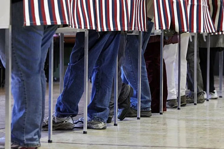 John Baer: Pennsylvania, where American democracy started, is among the most restrictive states when it comes to the most basic democratic function. (AP Photo/Toby Talbot, File)