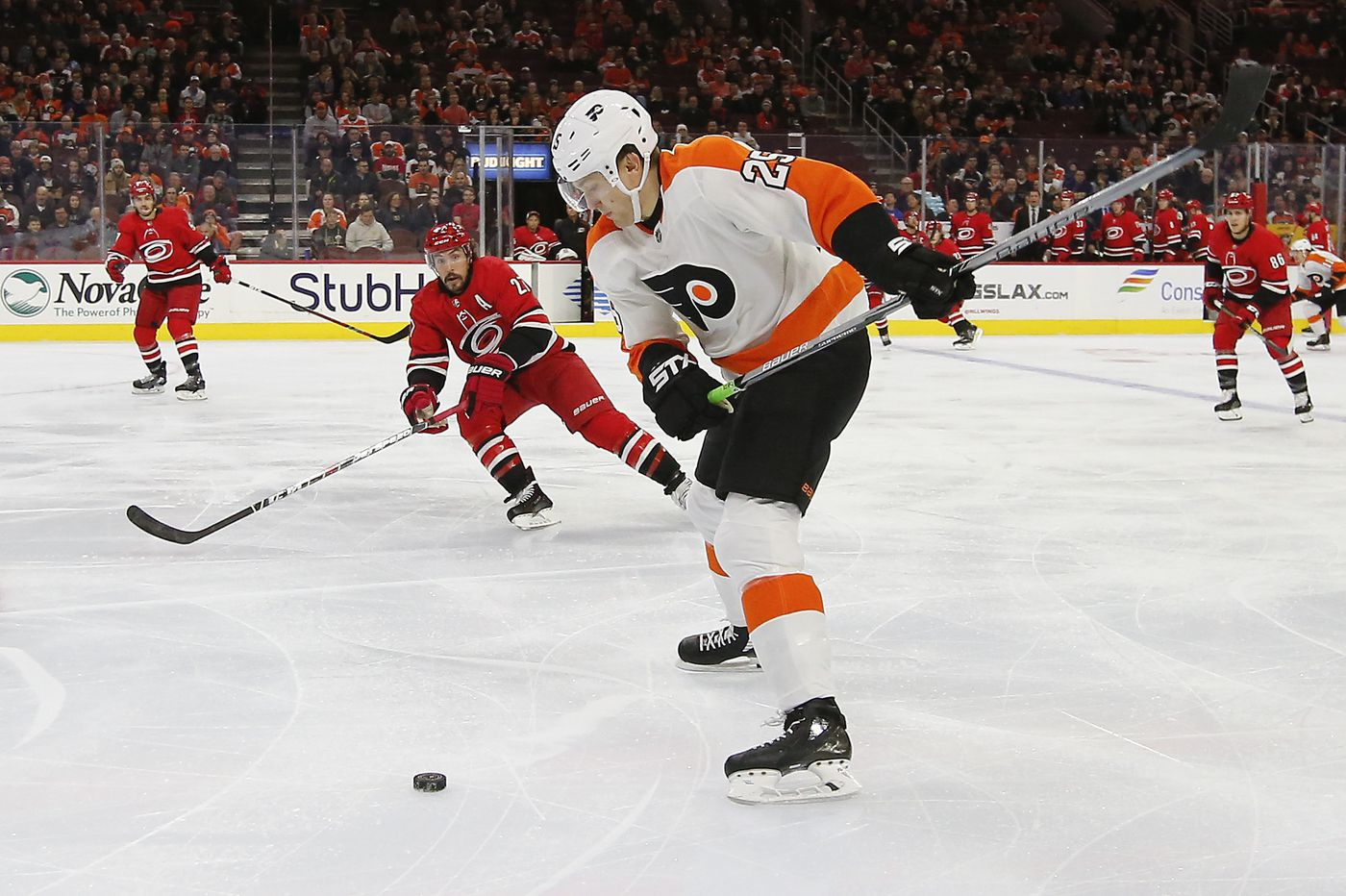 Flyers' James van Riemsdyk, trying to find his game, will go from fourth to top line