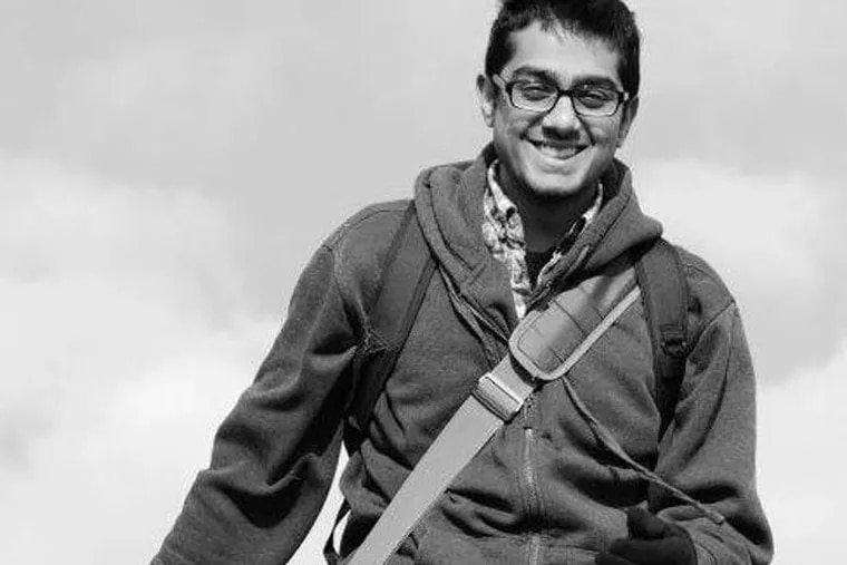 Jay Mohan, 26, a Temple film graduate, was killed Saturday while riding his bike. (Credit: Scribe.com)