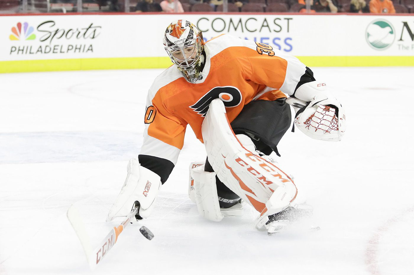 Michal Neuvirth wins rehab start with Phantoms, 7-3; may play Sat. for Flyers