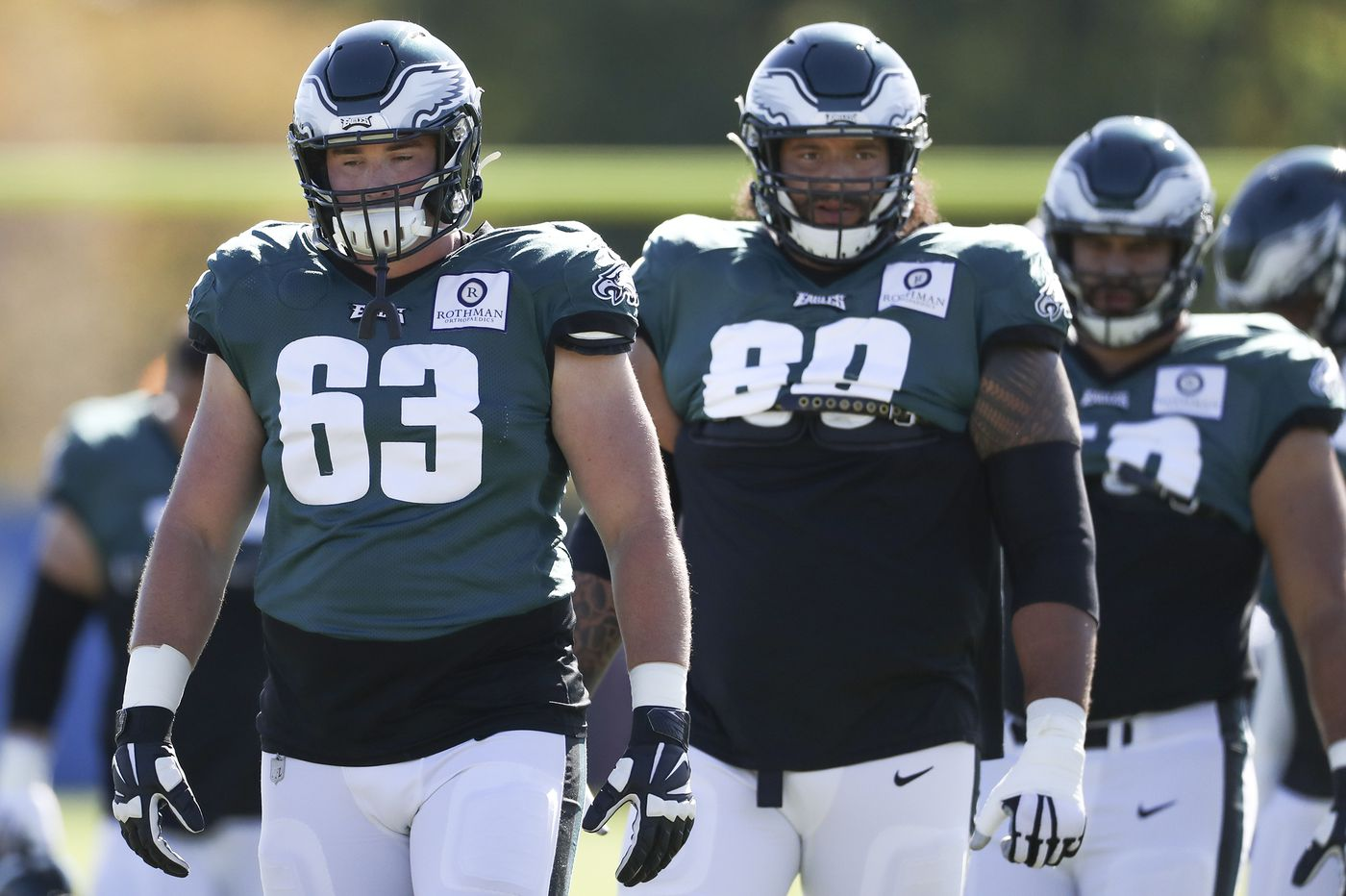 Eagles rookie Jack Driscoll will get the start at right tackle as O-line shuffling continues