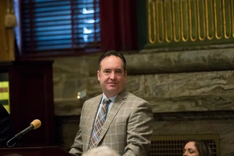 Pennsylvania Senate Majority Leader Jake Corman in the Senate chambers Jan. 15, 2019, at the state Capitol in Harrisburg.