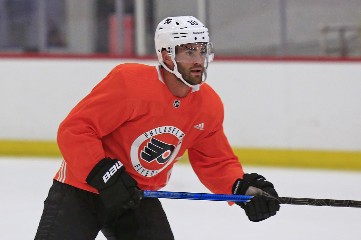 Andy Andreoff contributing on Flyers' 4th line; raves about former linemate Morgan Frost