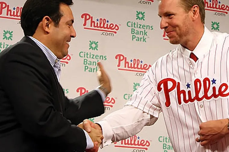 """""""It was something I couldn't pass up,"""" Roy Halladay said of the chance to join the Phillies. (Steven M. Falk/Staff Photographer)"""
