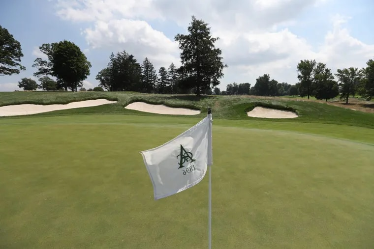 The 11th green at Aronimink, which is set to host a FedEx Cup playoffs tournament next year and the PGA Championship major tournament in 2027.