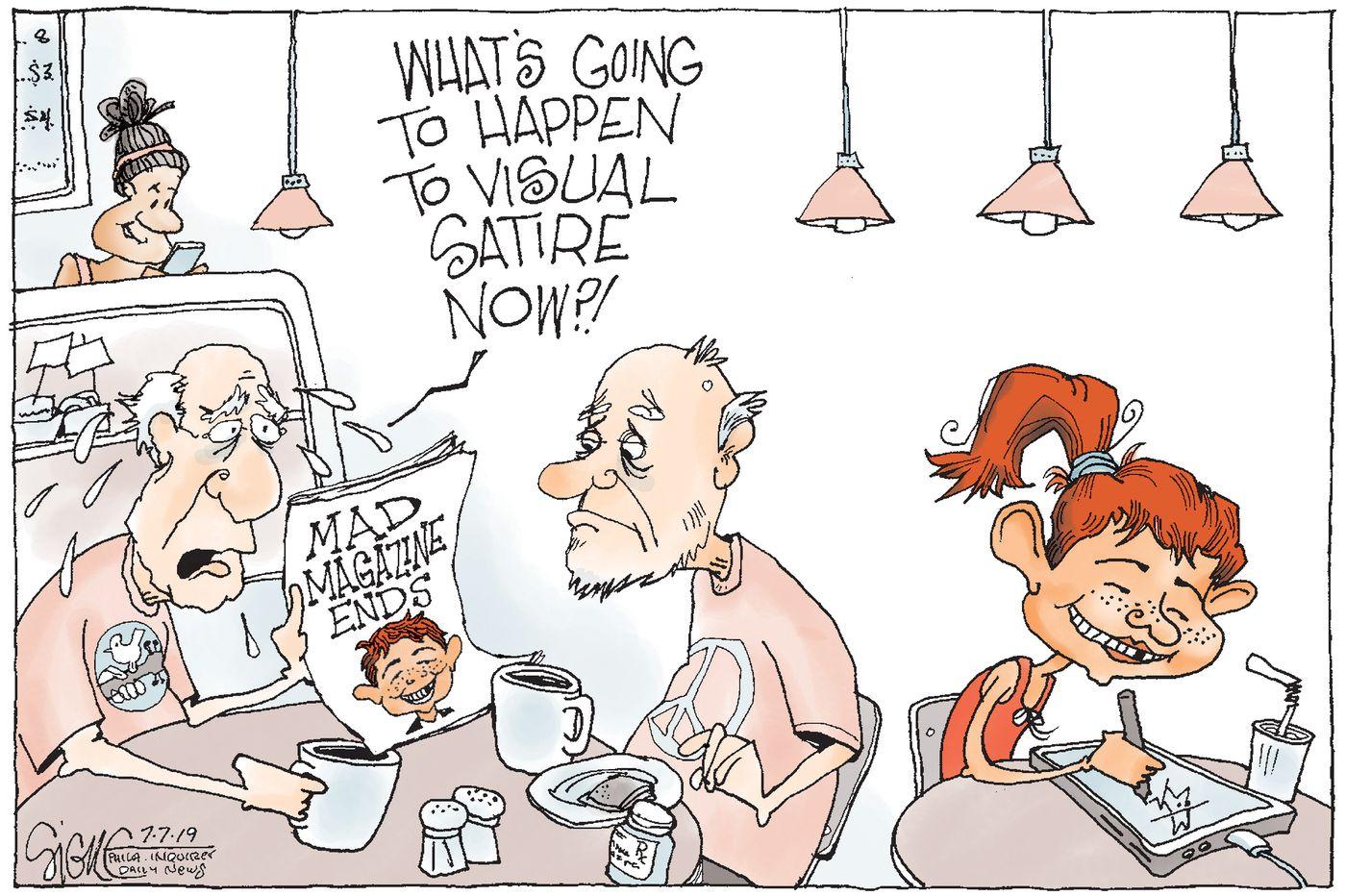 Political Cartoon: Mad Magazine humor passes on
