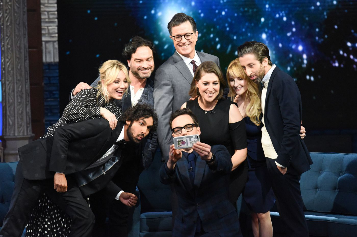 'Big Bang Theory' cast visits Stephen Colbert, drops a few secrets